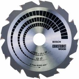 Пильный диск по дереву Bosch 2608640633 d=190мм d(посад.)=30мм (циркулярные пилы)