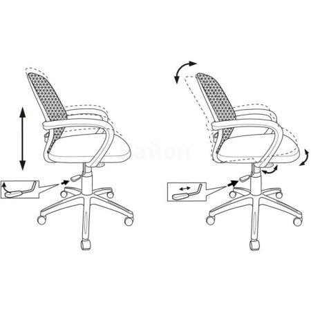 Кресло Бюрократ CH-499/Z1/TW-11 спинка сетка черный Z1 сиденье черный TW-11