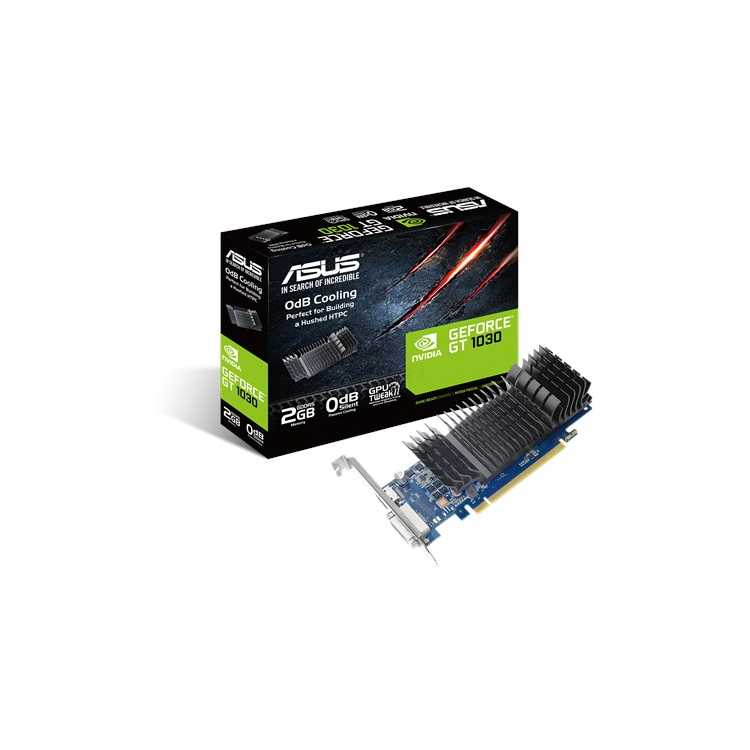 Asus GT1030-SL-2G-BRK PCI-E 3.0, 2048Мб, GDDR5