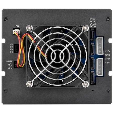 "Сменный бокс для HDD/SSD Thermaltake Max 3504 SATA I/II/III/SAS SATA металл черный hotswap 1 3.5"""