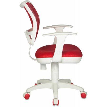 Кресло Бюрократ CH-W797/R/TW-97N спинка сетка красный сиденье красный TW-97N пластик белый