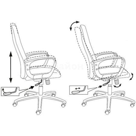 Кресло руководителя Бюрократ CH-808AXSN/Green зеленый 10-24