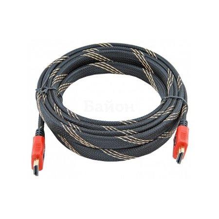 Кабель HDMI-HDMI ver1.4 19M/19M 10м, плетеная оболочка, позолоченные контакты Blister box
